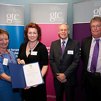 Images from the 2014 GTSC Probabtion Event Pictured are Jackie Brock (Chief Executive of Children First), Ceilidh Johnstone (Dumfries & Galloway),,Ken Muir (Chief Executive GTCS) and Derek Thompson (Convener GTCS). Thursday 12th June 2014.