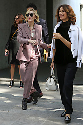 Cate Blanchett, Roberta Armani leave the fashion show at Armani Theatre during the Milan Fashion Week - Collection 2018 on September 22, 2017 in Milan, Italy. Photo by Marco Piovanotto/Abacapress.com