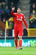 Picture by Paul Chesterton/Focus Images Ltd.  07904 640267.28/04/12.Luis Suárez of Liverpool scores his sides 2nd goal and celebrates during the Barclays Premier League match at Carrow Road Stadium, Norwich.