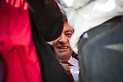 Meeting du candidat a la presidentielle Jean-Luc Melenchon (front de gauche) a Marseille sur l'esplanade du prado