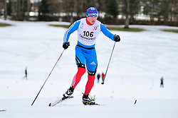 SPITCYN Filipp Guide: BASIUK Zhorzh, RUS at the 2014 IPC Nordic Skiing World Cup Finals - Middle Distance
