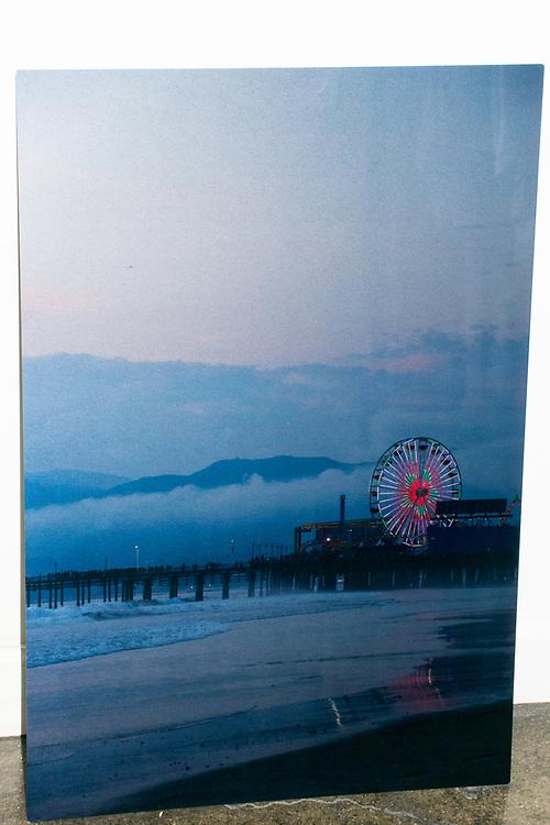 Ferris Wheel Skyline Photograph printed on metal