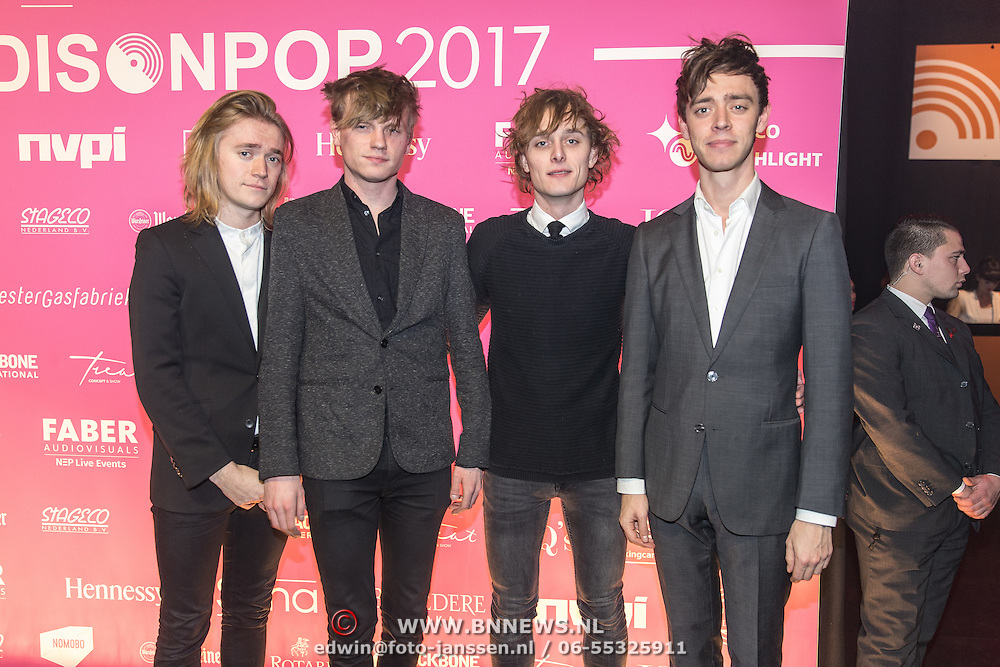 NLD/Amsterdam/201702013- Edison Pop Awards 2017, Band Orange Skyline