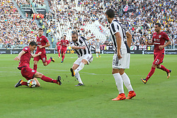 August 19, 2017 - Turin, Piedmont, Italy - Gonzalo Higuain (Juventus FC) scores during the Serie A football match between Juventus FC and Cagliari Calcio at Allianz Stadium on august 19, 2017 in Turin, Italy. (Credit Image: © Massimiliano Ferraro/NurPhoto via ZUMA Press)