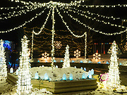 Holiday light show at Janesville Rotary Gardens, Janesville, Wisconsin.