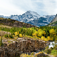 fall colors, glacier national park, crown of the continent, montana, many glacier valley