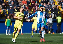 February 3, 2019 - Vila-Real, Castellon, Spain - Daniele Bonera of Villarreal and Borja Iglesias of RCD Espanyol during the La Liga match between Villarreal and Espanyol at Estadio de la Ceramica on February 3, 2019 in Vila-real, Spain. (Credit Image: © AFP7 via ZUMA Wire)