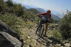 October 3, 2018 - Himachal Pradesh, India - Marvin Augustyniak of Germany competes at the 14th edition of the Hero MTB Himalaya mountain bike race in the northern Indian state of Himachal Pradesh on 4th  October, 2018. The 14th edition of the annual cross country race is taking place over eight stages in the foothills of the Himalaya, started in Shimla on September 28, 2018 and finishing in Dharamshala on October 6,2018. (Credit Image: © Indraneel Chowdhury/NurPhoto/ZUMA Press)