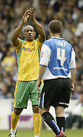 Photo: Aidan Ellis.<br /> Sheffield Wednesday v Norwich City. Coca Cola Championship. 06/05/2007.<br /> Norwich's Deon Dublin applauds the fans after his goal and team's second