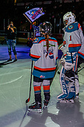 KELOWNA, CANADA - JANUARY 25: Pepsi Player of the Game in the Lineup at the Kelowna Rockets game on January 25, 2019 at Prospera Place in Kelowna, British Columbia, Canada. (Photo By Cindy Rogers/Nyasa Photography, *** Local Caption ***