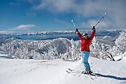 Monique Sady Skiing at Mt. Rose Ski Tahoe.