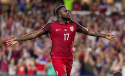 October 6, 2017 - Orlando, Florida, United States - Orlando, FL - Friday Oct. 06, 2017: Jozy Altidore socres during a 2018 FIFA World Cup Qualifier between the men's national teams of the United States (USA) and Panama (PAN) at Orlando City Stadium. (Credit Image: © Mark Thorstenson/ISIPhotos via ZUMA Wire)