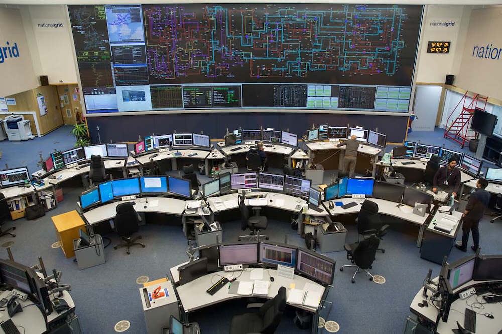 The National Grid electricity control room maps and monitors the flow of high voltage electric power around the entire UK network from their head quarters  Wokingham, United Kingdom. (photo by Andrew Aitchison / In pictures via Getty Images)