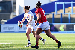 Katy Daley-Mclean of England Women is marked by Amy Evans of Wales Women - Mandatory by-line: Ryan Hiscott/JMP - 24/02/2019 - RUGBY - Cardiff Arms Park - Cardiff, Wales - Wales Women v England Women - Women's Six Nations