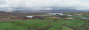 Aerial Photos Panoramic View of Lough Fea On the Derry Tyrone Border May 2020 Near Lough Neagh