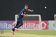 Nathan Sowter of Middlesex bowling during the Royal London One Day Cup match between Hampshire County Cricket Club and Middlesex County Cricket Club at the Ageas Bowl, Southampton, United Kingdom on 23 April 2019.