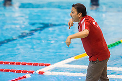 Theodoros Vlachos, head coach of Olympiacos during water polo match between Primorje Erste Bank (CRO) and Olympiacos Piraeus (GRE) in 8th Round of Champions League 2016, on April 16, 2016 in Kantrida pool, Rijeka, Croatia. Photo by Vid Ponikvar / Sportida