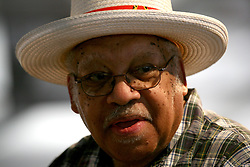 May 03 2009. New Orleans, Louisiana. The 40th New Orleans Jazz and Heritage Festival. Legendary jazz man Ellis Marsalis plays the Jazz tent.<br /> Photo credit; Charlie Varley.