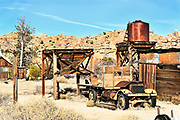 Truck and Water Tower at Keys Ranch Joshua Tree National Park