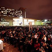 Crowd at the Mayor's Christmas Tree Lighting, Kansas City Missouri, November 25, 2011.