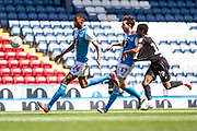 Blackburn Rovers defender Tosin Adarabioyo in action during the EFL Sky Bet Championship match between Blackburn Rovers and Bristol City at Ewood Park, Blackburn, England on 20 June 2020.