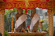 Vientiane, Laos. Buddhist temple along Setthahirath Road.