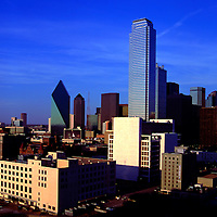 Aerial view of  Dallas Texas Skyline