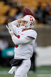 BERKELEY, CA - DECEMBER 01: Quarterback K.J. Costello #3 of the Stanford Cardinal warms up before the game against the California Golden Bears at California Memorial Stadium on December 1, 2018 in Berkeley, California. The Stanford Cardinal defeated the California Golden Bears 23-13. (Photo by Jason O. Watson/Getty Images) *** Local Caption *** K.J. Costello