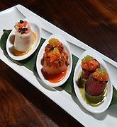 Sushi Seared Three Ways served at Moca Asian Bistro in Woodbury, N.Y.