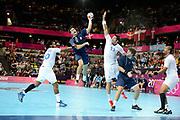 DESCRIZIONE : France Handball Jeux Olympiques Londres <br /> GIOCATORE : MIGUELES Damian Emmanuel<br /> SQUADRA : Argentine Homme<br /> EVENTO : FRANCE Handball Jeux Olympiques<br /> GARA : FRANCE ARGENTINE<br /> DATA : 31 07 2012<br /> CATEGORIA : handball Jeux Olympiques<br /> SPORT : HANDBALL<br /> AUTORE : JF Molliere <br /> Galleria : France JEUX OLYMPIQUES 2012 Action<br /> Fotonotizia : France Handball Homme Jeux Olympiques Londres premier tour <br /> Predefinita :