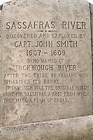 Historic Marker, Sassafras River Bridge, Chesapeake Bay, Georgetown, Maryland, United States of America, North America.