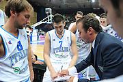 Bari, 08/08/2010<br /> Eurobasket men 2011 Qualifying Round<br /> Italia - Finalndia<br /> Nella foto: Andrea Bargnani Simone Pianigiani<br /> Foto Ciamillo