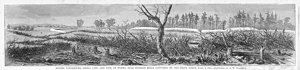 Civil War: The Battles around Petersburg, Virginia (near Richmond) One of the Final battles of the war, just before Lee's surrender at Appomattox.
