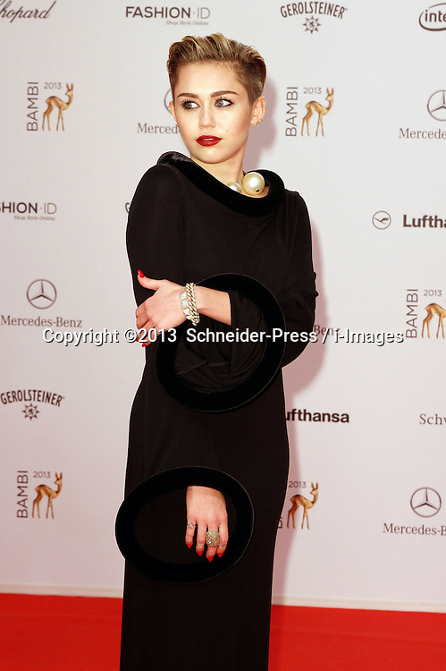 60717960 <br /> Miley Cyrus at the Bambi Awards 2013 at Stage Theatre in Berlin, Germany, Thursday, 14th November 2013. Picture by imago / i-Images<br /> UK ONLY