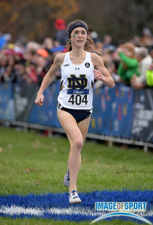 Nov 21, 2015; Louisville, KY, USA; Molly Seidel of Notre Dame wins the womens race in 19:28 during the 2015 NCAA cross country championships at Tom Sawyer Park.