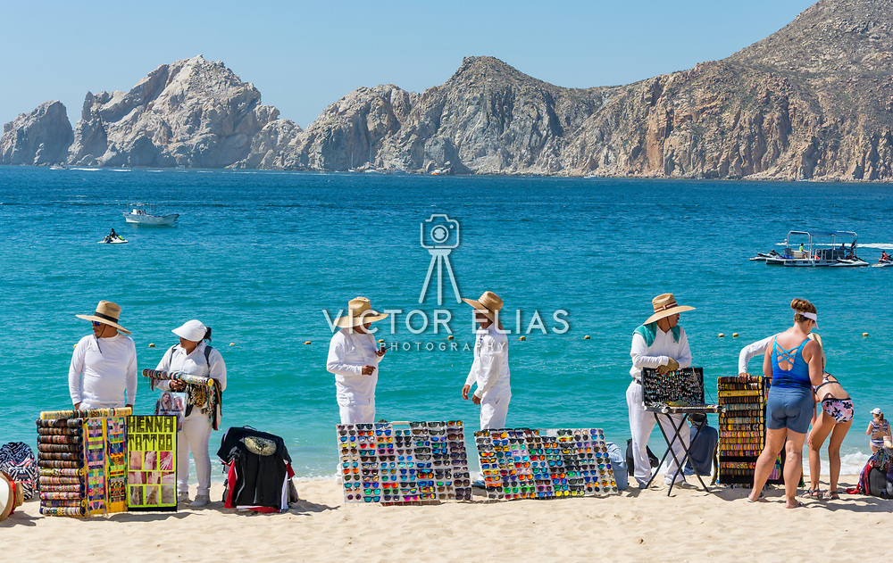 Arts and crafts market by the beach. Medano Beach. Cabo San Lucas, BCS. Mexico.