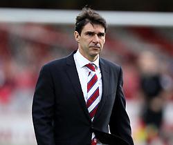 Middlesbrough Manager, Aitor Karanka - Photo mandatory by-line: Robbie Stephenson/JMP - Mobile: 07966 386802 - 08/05/2015 - SPORT - Football - Brentford - Griffin Park - Brentford v Middlesbrough - Sky Bet Championship