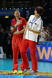 JENNY LANG PING<br /> AWARDING CEREMONY<br /> VOLLEYBALL WOMEN'S WORLD CHAMPIONSHIP 2014<br /> MILAN 12-10-2014<br /> PHOTO BY FILIPPO RUBIN