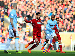 Emre Can of Liverpool and Joao Mario of West Ham United - Mandatory by-line: Matt McNulty/JMP - 24/02/2018 - FOOTBALL - Anfield - Liverpool, England - Liverpool v West Ham United - Premier League