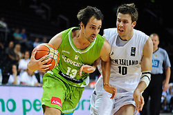 Domen Lorbek of Slovenia during friendly match between National Teams of Slovenia and New Zealand before World Championship Spain 2014 on August 16, 2014 in Kaunas, Lithuania. Photo by Vid Ponikvar / Sportida.com