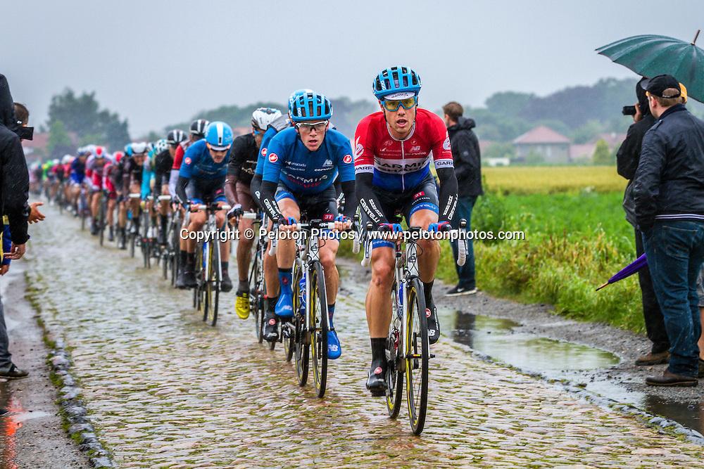 Bunch on the cobbles, Tour de France, Stage 5: Ypres > Arenberg Porte du Hainaut, UCI WorldTour, 2.UWT, Wallers, France, 9th July 2014, Photo by Thomas van Bracht / PelotonPhotos.com