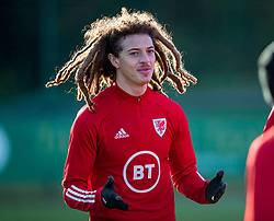 CARDIFF, WALES - Monday, November 18, 2019: Wales' Ethan Ampadu during a training session at the Vale Resort ahead of the final UEFA Euro 2020 Qualifying Group E match against Hungary. (Pic by David Rawcliffe/Propaganda)