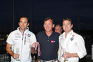 Adam Roberts and Erik Storck accept the award for 2nd Place at the 470 Nationals in Miami, Florida
