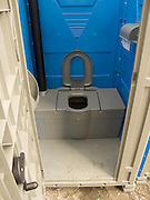 view of the inside of a chemical toilet