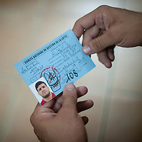 02/07/2012. Senegal, Dakar. One day with the White Lion.    The canarian wrestler Juan Espino, the unique white fighter in the senegalese wrestling, with his official license.   ©Sylvain Cherkaoui