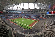 General overall view of Tottenham Hotspur Stadium ahead of the NFL International Series game between the Carolina Panthers and the Tampa Bay Buccaneers, Sunday, Oct. 13 2019, in London. The Panthers defeated the Buccaneers 37-26.(Gareth Williams/Image of Sport)