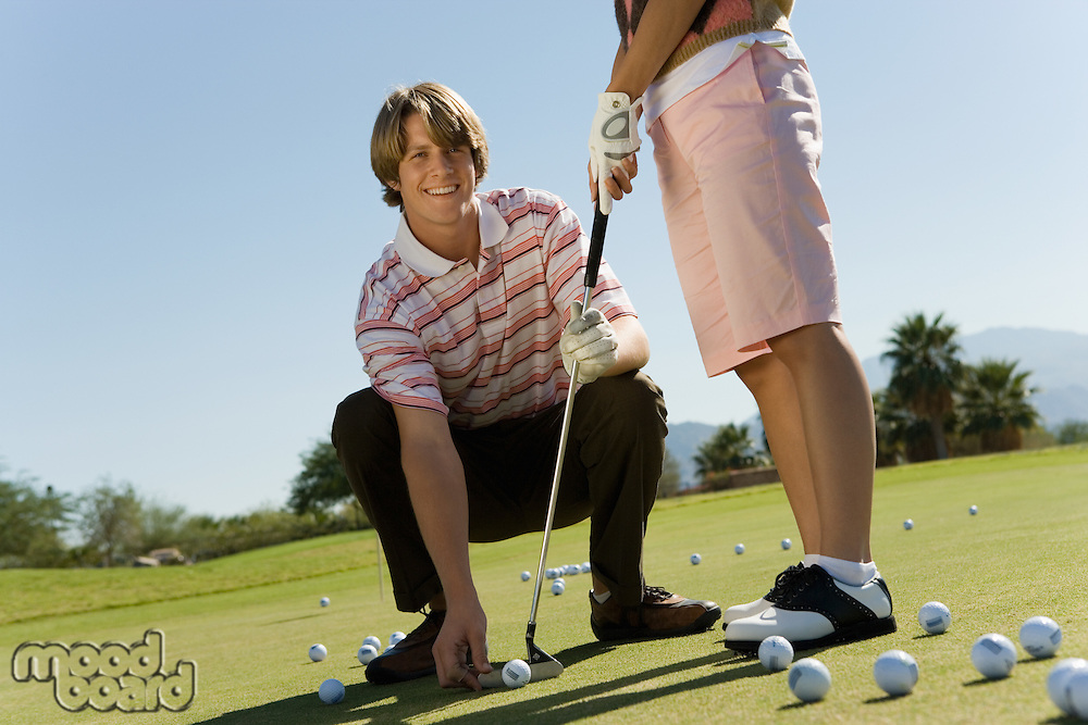 Golf Instructor with Student