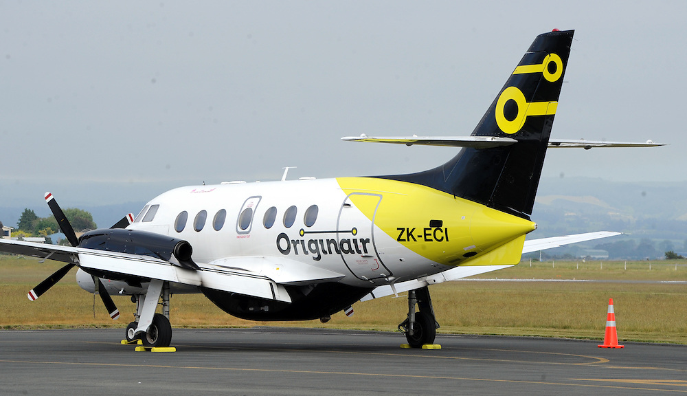 Originair, British Aerospace Jetstream 32, Nelson, New Zealand, Saturday, November 07, 2015. Credit:SNPA / Ross Setford