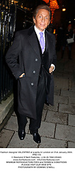 Fashion designer VALENTINO at a party in London on 31st January 2004.<br /> PRE 119