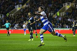 Goal, Yann Kermorgant of Reading scores, Reading 1-0 Blackburn Rovers - Mandatory by-line: Jason Brown/JMP - 04/04/2017 - FOOTBALL - Madejski Stadium - Reading, England - Reading v Blackburn Rovers - Sky Bet Championship